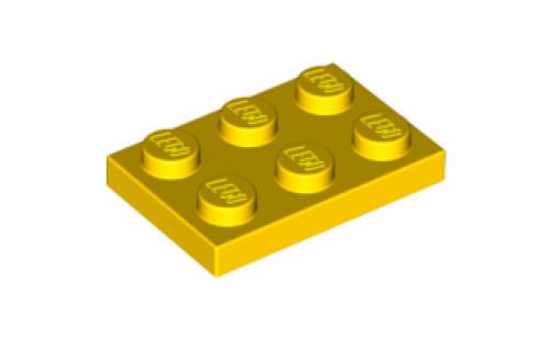 Lego kostka 2x3 žlutá