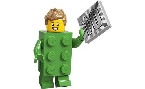 LEGO 71027 Minifigurky 20. série Kostým zelená kocka (13.)
