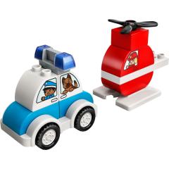 LEGO DUPLO 10957 Hasičský vrtulník a policejní auto