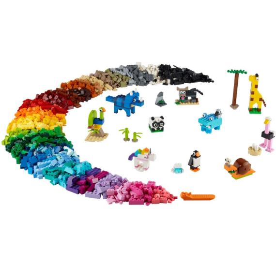 LEGO Classic 11011 Kostky a zvířátka - detail