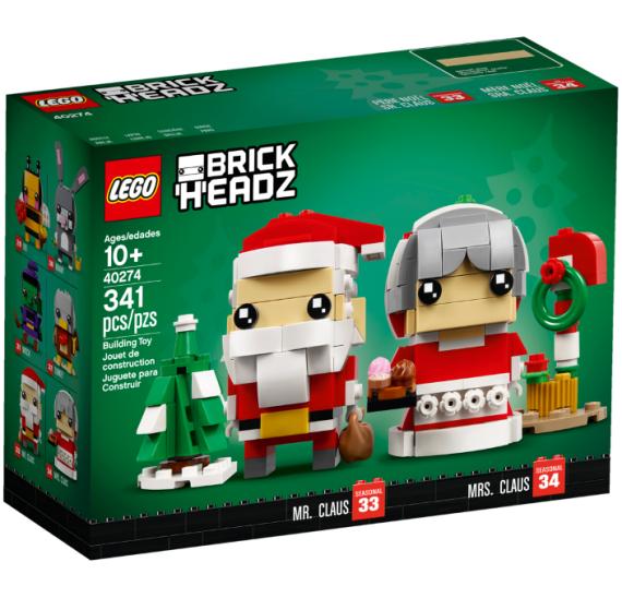 LEGO BrickHeadz 40274 Pan a paní Santa Clausovi - balení