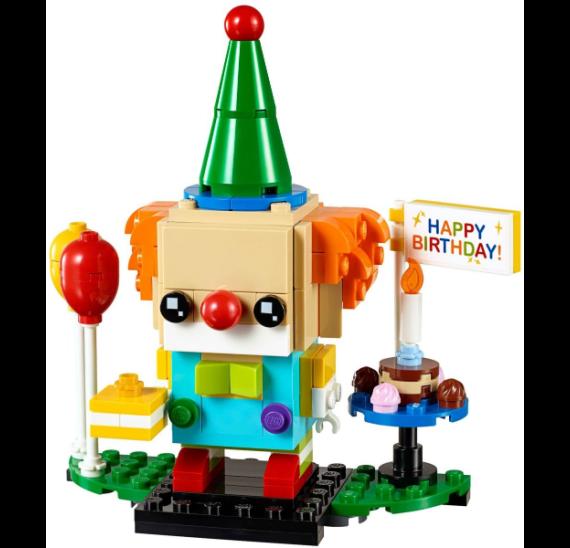 LEGO BrickHeadz 40348 Narozeninový klaun - detail