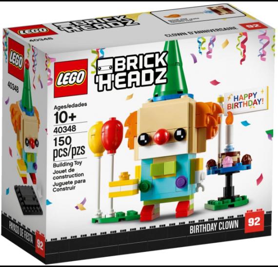 LEGO BrickHeadz 40348 Narozeninový klaun - balení
